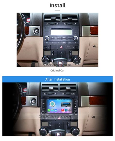 auto air conditioning repair 2009 volkswagen touareg navigation system oem android 6 0 2002 2011 vw volkswagen touareg radio replacement with in dash car dvd gps