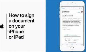 How to sign a document on iphone or ipad explains apple for Documents no iphone