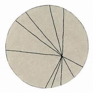 Tapis Rond Design : tapis rond coton beige lorena canals trace 160 cm kdesign ~ Teatrodelosmanantiales.com Idées de Décoration
