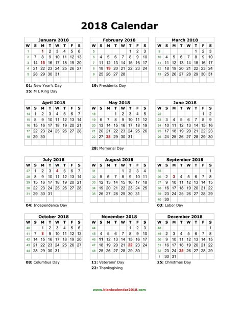 2018 Yearly Calendar Template Yearly Calendar 2018 Calendar Template Excel