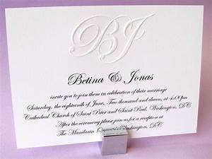 custom embossed monogram wedding invitation digby rose With personalised embossed wedding invitations
