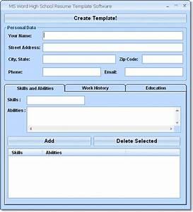 download ms word high school resume template software 70 With high school resume template microsoft word