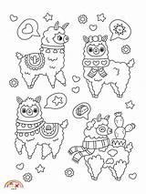 Coloring Llamas Blogx Printable sketch template
