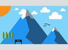 Mountain Minimal Material Design · Free image on Pixabay