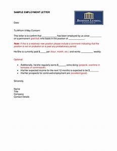 Sample Employment Letter