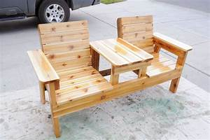 free patio chair plans how to build a double chair bench With homemade lawn furniture