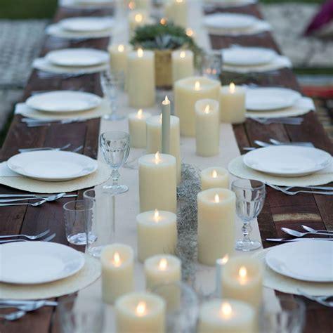10 flameless candle wedding centerpiece ideas