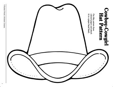 cowboy hat template cowboy hat pattern printable arts crafts and skills sheets