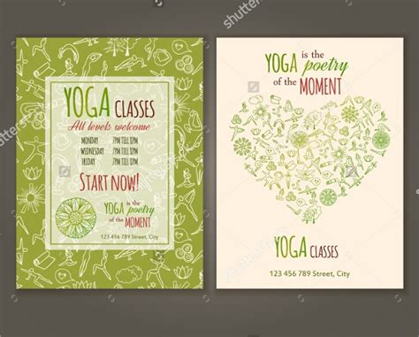 yoga flyer templates vector eps psd word formats