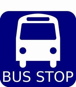 Bus Stop Sign Blue Clip Art at Clker.com - vector clip art ...