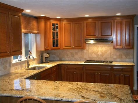 kitchen tile and cabinet combinations granite and backsplash combinations namibian gold