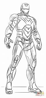 Iron Coloring Drawing Ironman Printable Draw Paper sketch template