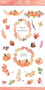 Fall Clipart, Autumn Watercolor Wreath Clip Art, 5x7 ...