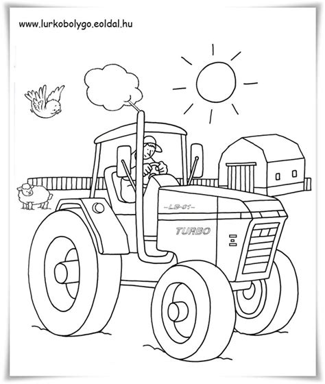 ausmalbilder traktor kostenlos