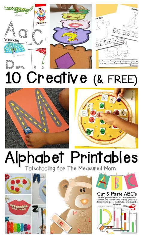 10 free alphabet printables the measured 243 | 10 creative and free alphabet printables