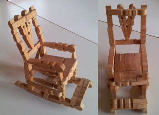 basteln mit holzklammern schaukelstuhl stuhl bestalarbeit basteln klammern holzklammern w 228 scheklammern