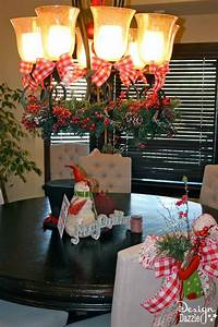 Christmas Dining Room Decor How To Tie A Simple Bow