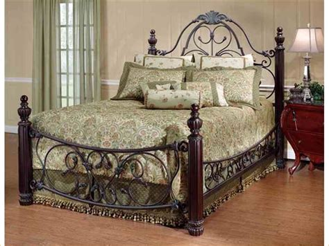 iron bedroom sets wood and iron bedroom furniture