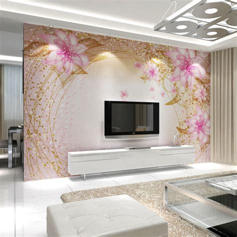 dd pink dreamy flower papel mural  wall mural