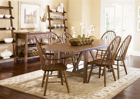 trestle table and chairs farmhouse trestle dining set by liberty t4002 dining