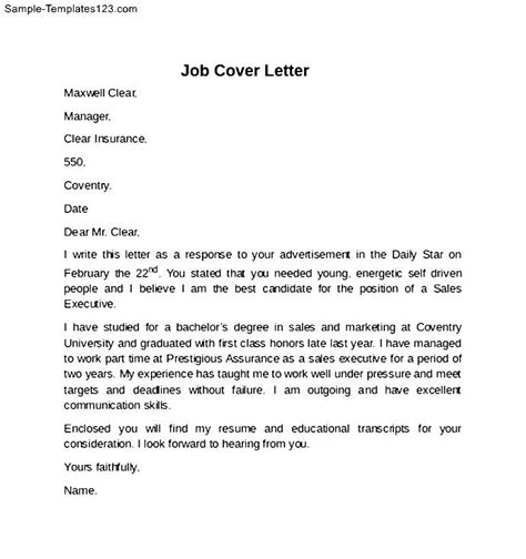 Where To Put Unpaid Internship On Resume by Cover Letter For Unpaid Internship