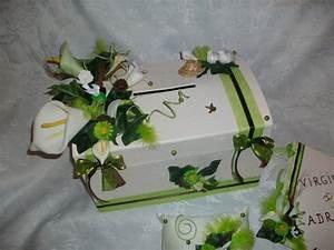 Urne Mariage Champêtre : urne mariage ivoire vert anis la copie n 39 est pas un art ~ Melissatoandfro.com Idées de Décoration