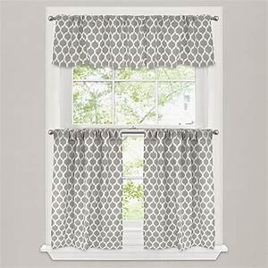 Morocco Window Curtain Tier Pair In Stone Bed Bath Beyond