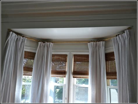 Traverse Curtain Rods For Bay Windows-curtains