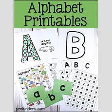 Alphabet Printables For Prek, Preschool, Kindergarten Prekinders