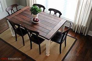rustic dining room table plans large and beautiful With diy dining room table plans