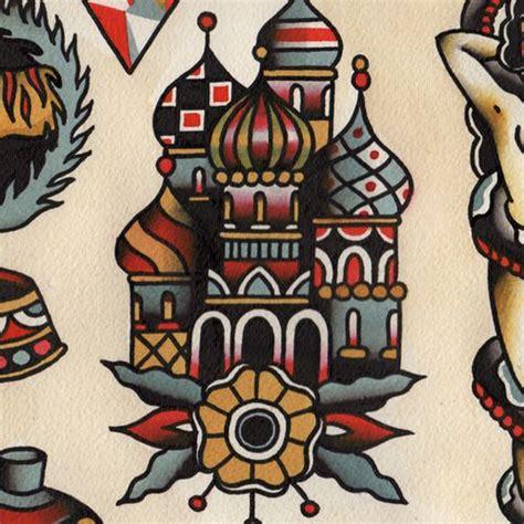 russian orthodox cathedral tattoo flash tatuaggi