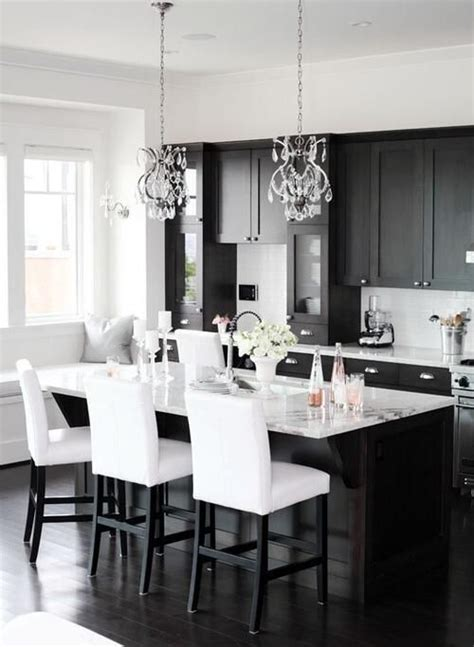 timelessly elegant black  white kitchens digsdigs