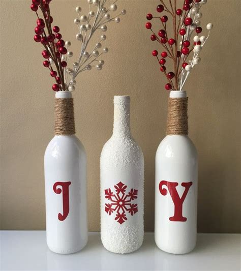 christmas wine bottles ideas  pinterest