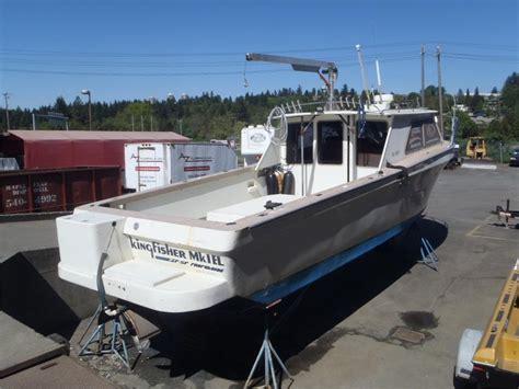Kingfisher Boats Calgary by 1988 Kingfisher 36 Foot Fishing Boat Outside Alberni