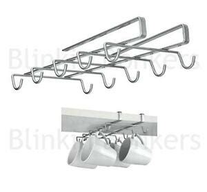 Cabinet Mug Rack by Shelf Cup Mug Holder Hanger Coffee Kitchen Storage