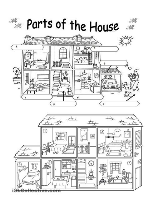 297 Best Parts Of A House And Worksheetts Images On Pinterest  Worksheets, Studentcentered