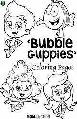 Coloring Pages Printable Guppies Bubble Baby Sheets Birthday Victorious Nick Jr Colorear Para Printables Colouring Justice Dory Party Guppy Cartoon sketch template