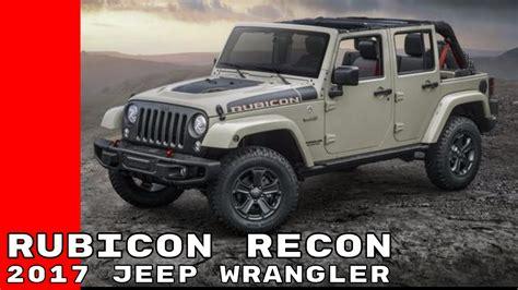 jeep wrangler rubicon recon edition youtube