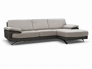 canape d39angle droit cuir luxe gris anthracite emotion With canapé d angle cuir gris anthracite
