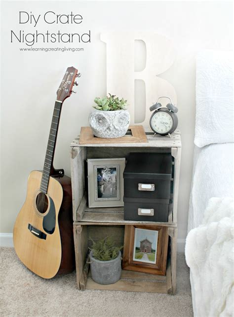 Crate Nightstand Diy by 17 Creative And Cheap Nightstands Diy Wood Projects
