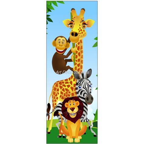 sticker de porte enfant animaux de la jungle d 233 co stickers