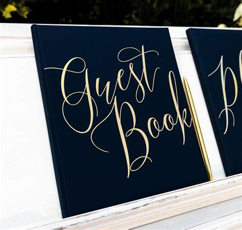 gaestebuch guest book hochzeit schwarzgold gaestebuecher