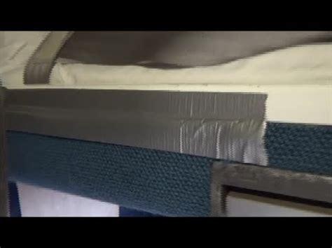 amtrak train sleeping car family bedroom  duct tape