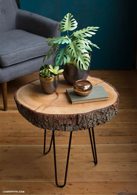 diy wood slice table wooden projects wood slice crafts