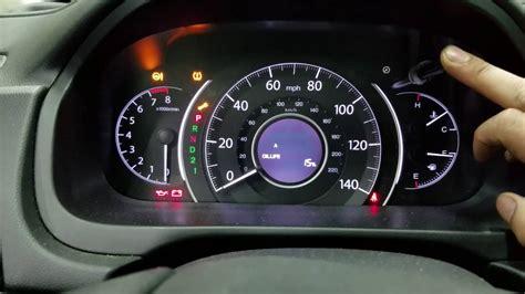 honda cr  reset change engine oil light youtube