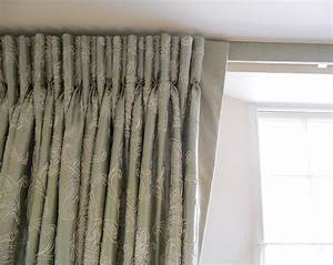curtains with goblet pleats on track with covered fascia With goblet curtains