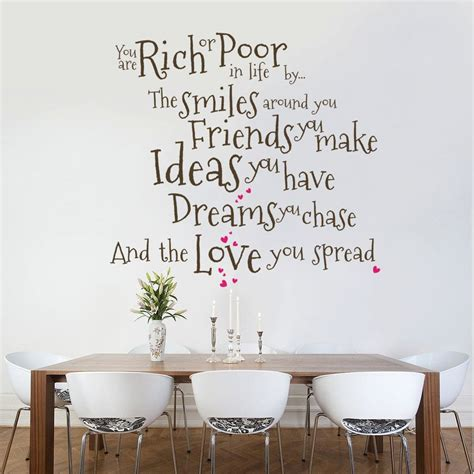 rich  poor wall decal quote sticker lounge