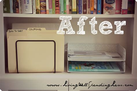 Organize Your Home Office {day 11}  Living Well Spending