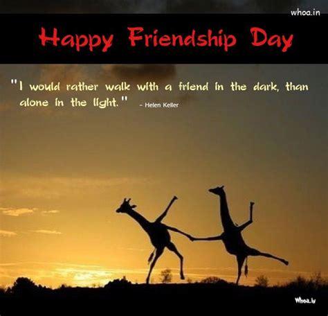 happy friendship day  sun shine natural quote