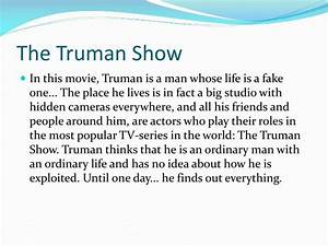 How To Start A Science Essay The Truman Show Essays In English German Essay Writing Essay Topics For High School English also Essay Paper Help The Truman Show Essays Report To Pdf The Truman Show Essays In  English Essay Websites